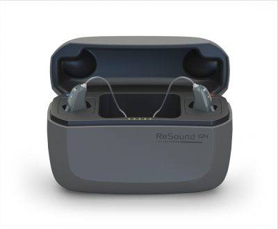 ReSound LiNX Charger Front Open Gloss Anthracite.jpg